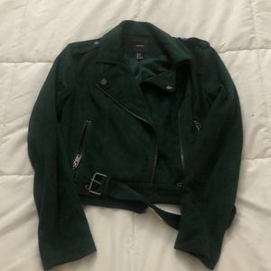 Forest Green suede jacket